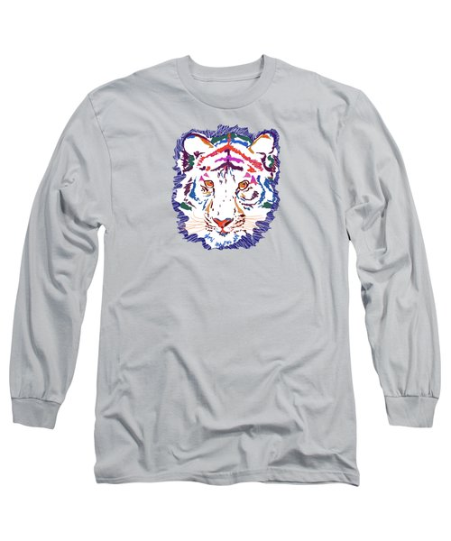 Magnificent Tiger Long Sleeve T-Shirt by Mary Armstrong