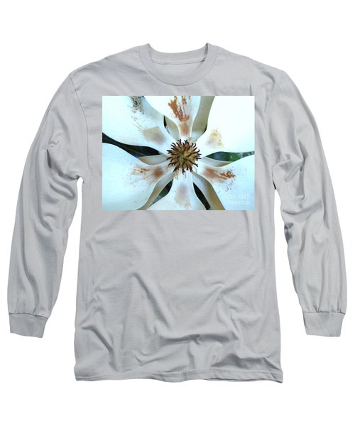 Magnolia Pinwheel Long Sleeve T-Shirt by Nancy Kane Chapman