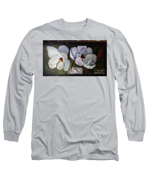 Magnolias White Flower Long Sleeve T-Shirt