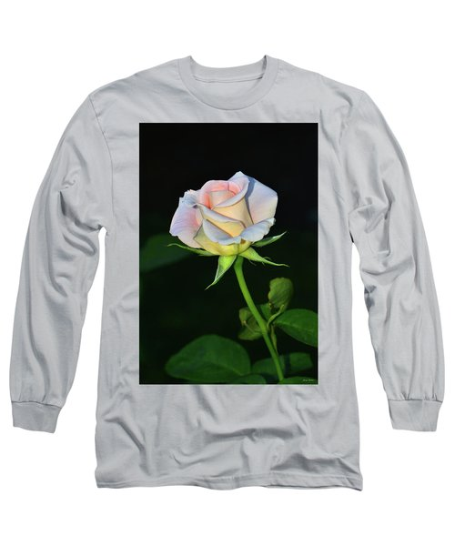 Long Sleeve T-Shirt featuring the photograph Maid Of Honour Rose 001 by George Bostian