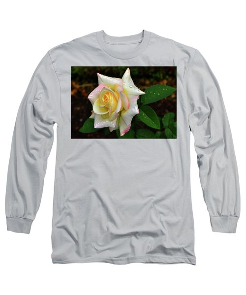 Long Sleeve T-Shirt featuring the photograph Maid Of Honour Rose 003 by George Bostian