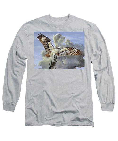 Majestic Sea Hawk Long Sleeve T-Shirt by Phyllis Beiser