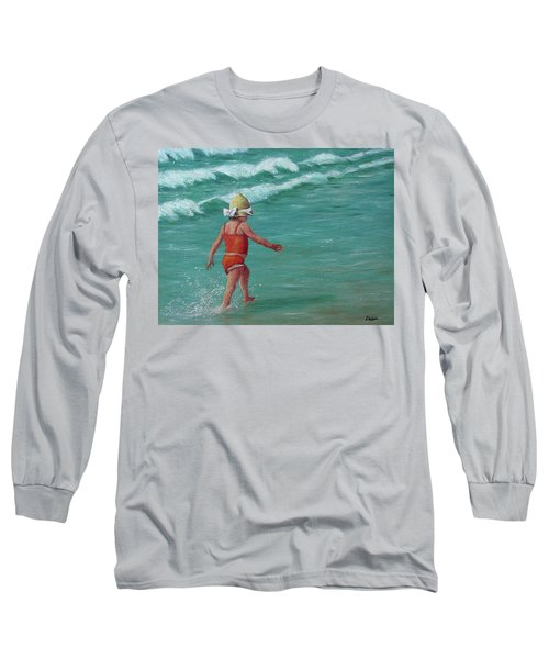 Long Sleeve T-Shirt featuring the painting Making A Splash   by Susan DeLain