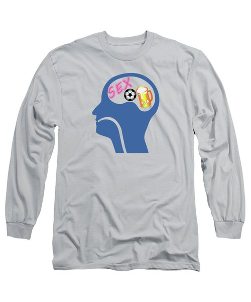 Male Psyche Long Sleeve T-Shirt by Gaspar Avila