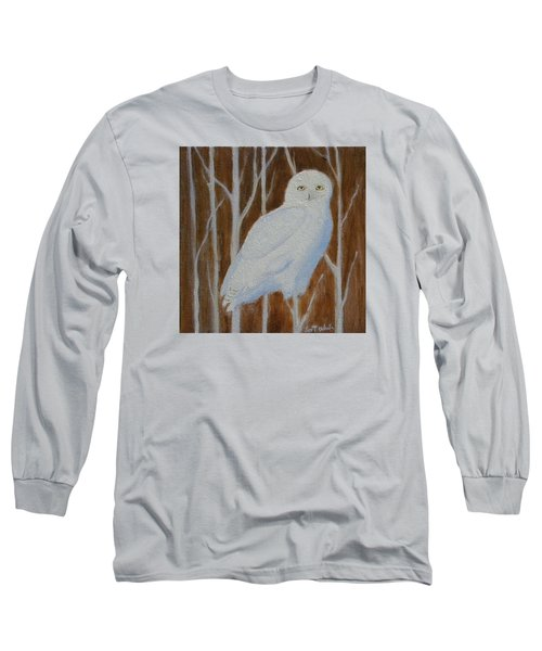Male Snowy Owl Portrait Long Sleeve T-Shirt