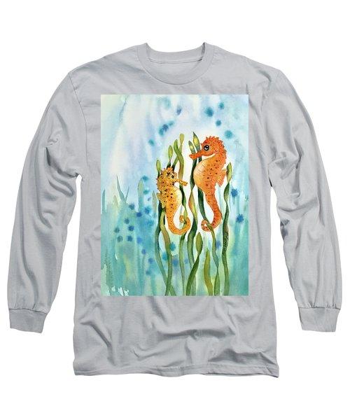 Mamma And Baby Seahorses Long Sleeve T-Shirt