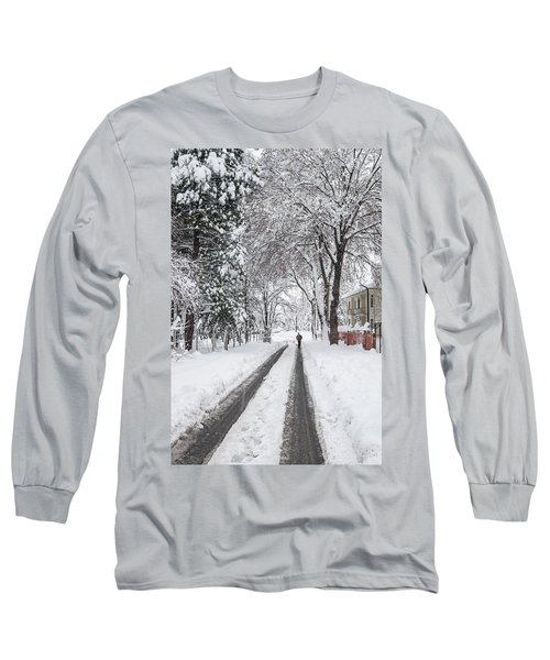 Man On The Road Long Sleeve T-Shirt