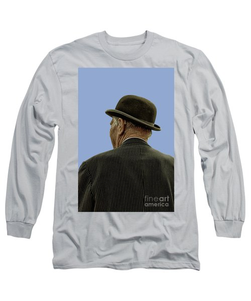 Man With A Bowler Hat Long Sleeve T-Shirt