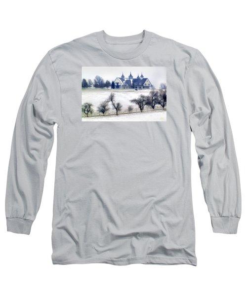 Manchester Farm In Winter Long Sleeve T-Shirt