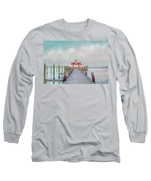 Manteo Lighthouse Long Sleeve T-Shirt by Marion Johnson