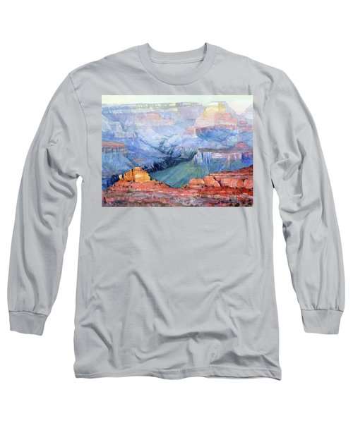 Long Sleeve T-Shirt featuring the painting Many Hues by Steve Henderson