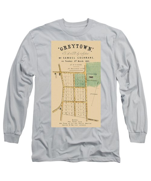 Long Sleeve T-Shirt featuring the photograph Map Of Auckland 1863b by Andrew Fare