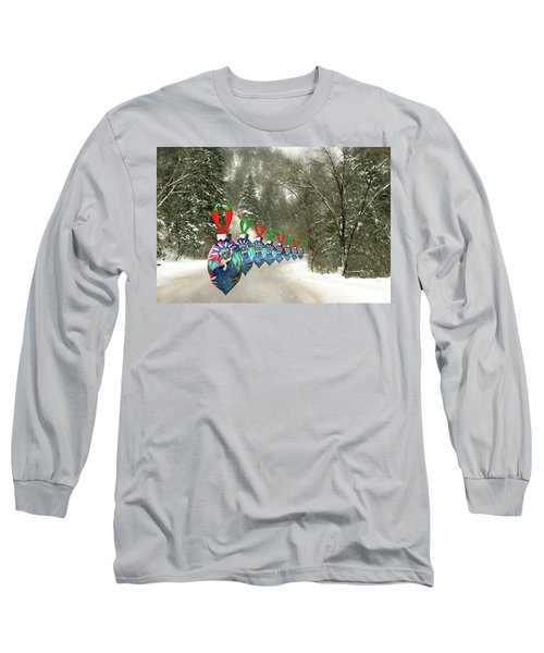 Marching Ornaments Chili Peppers Long Sleeve T-Shirt