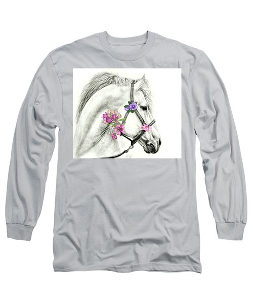 Mare With Flowers Long Sleeve T-Shirt