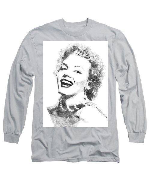 Marilyn Monroe Bw Portrait Long Sleeve T-Shirt