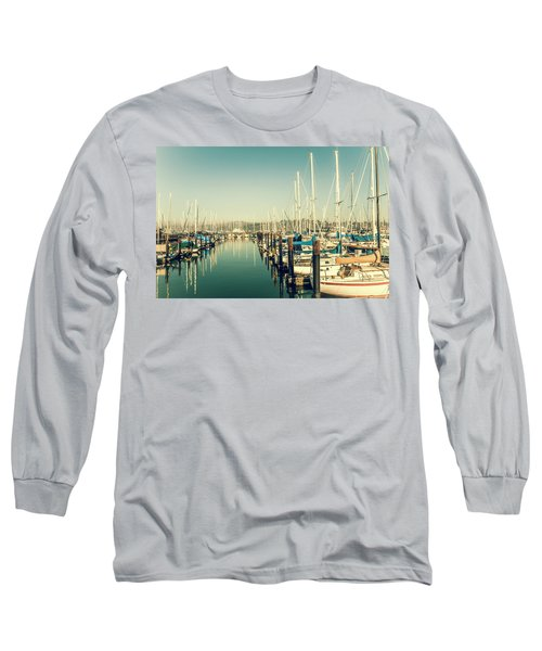 Marinaside Sausalito California Long Sleeve T-Shirt