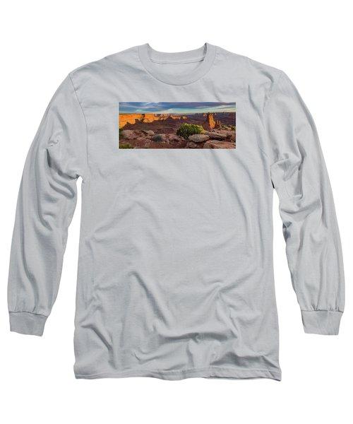 Marlboro Point Sunset Panorama Long Sleeve T-Shirt
