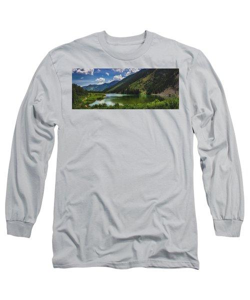 Maroon Lake Panorama Long Sleeve T-Shirt