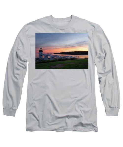 Marshall Point Lighthouse, Port Clyde, Maine -87444 Long Sleeve T-Shirt by John Bald