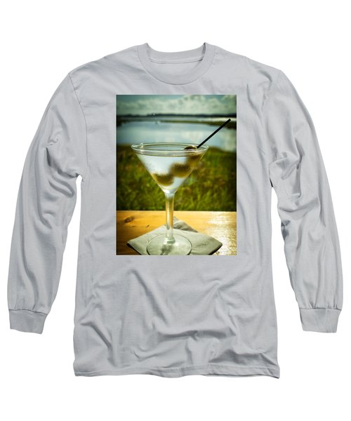 Martini On Fine Summer Day Long Sleeve T-Shirt