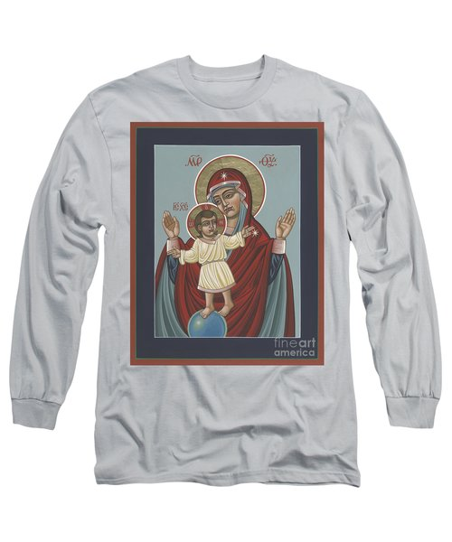 Long Sleeve T-Shirt featuring the painting Mary, Mother Of Mercy - Dedicated To Pope Francis In This Year Of Mercy 289 by William Hart McNichols