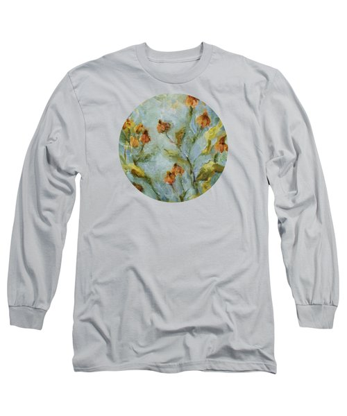 Long Sleeve T-Shirt featuring the painting Mary's Garden by Mary Wolf