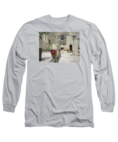 Matera With Flowers Long Sleeve T-Shirt