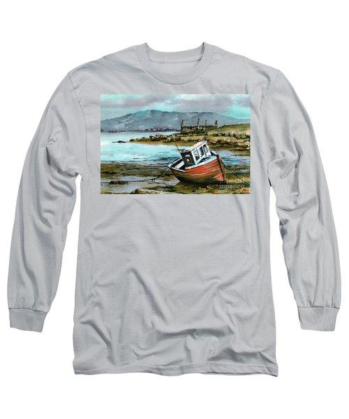 Mayo..red Boat At Coraun. Long Sleeve T-Shirt