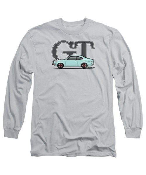Mazda Savanna Gt Rx-3 Baby Blue Long Sleeve T-Shirt by Monkey Crisis On Mars