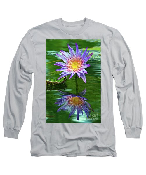 Mckee Water Lily Long Sleeve T-Shirt by Larry Nieland