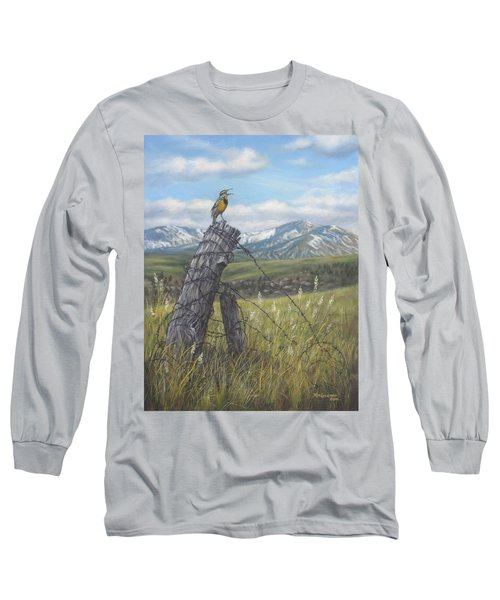 Meadowlark Serenade Long Sleeve T-Shirt by Kim Lockman