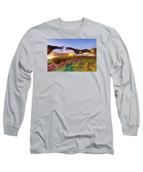 Mecom Fountain Long Sleeve T-Shirt by Tim Stanley