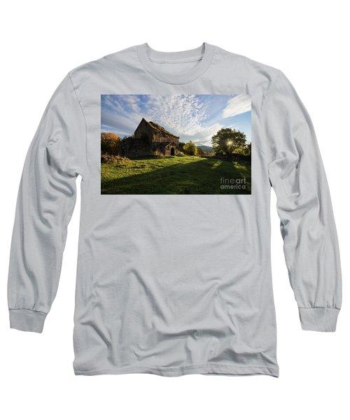 Medieval Tezharuyk Monastery During Amazing Sunrise, Armenia Long Sleeve T-Shirt by Gurgen Bakhshetsyan