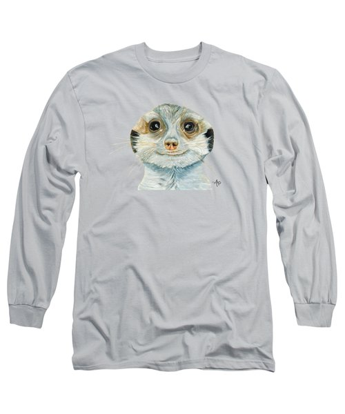 Meerkat Long Sleeve T-Shirt by Angeles M Pomata