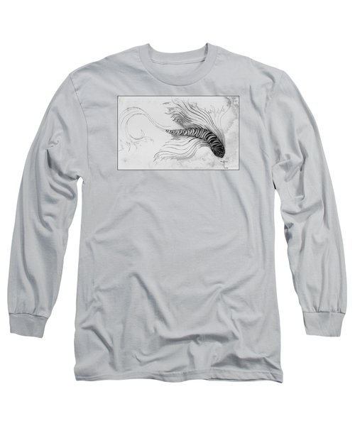 Long Sleeve T-Shirt featuring the drawing Megic Fish 3 by James Lanigan Thompson MFA