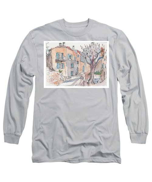 Long Sleeve T-Shirt featuring the painting Menerbes by Tilly Strauss