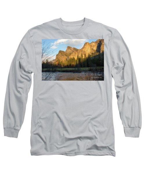 Merced River Yosemite Color Long Sleeve T-Shirt