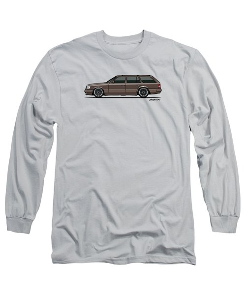 Mercedes Benz W124 E-class 300te Wagon - Anthracite Grey Long Sleeve T-Shirt by Monkey Crisis On Mars