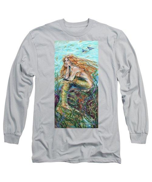 Mermaid Contemplating Long Sleeve T-Shirt