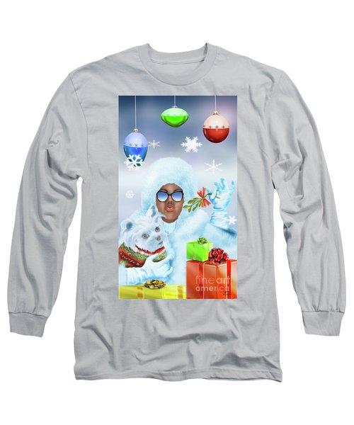 Merry Christmas And Kisses Long Sleeve T-Shirt