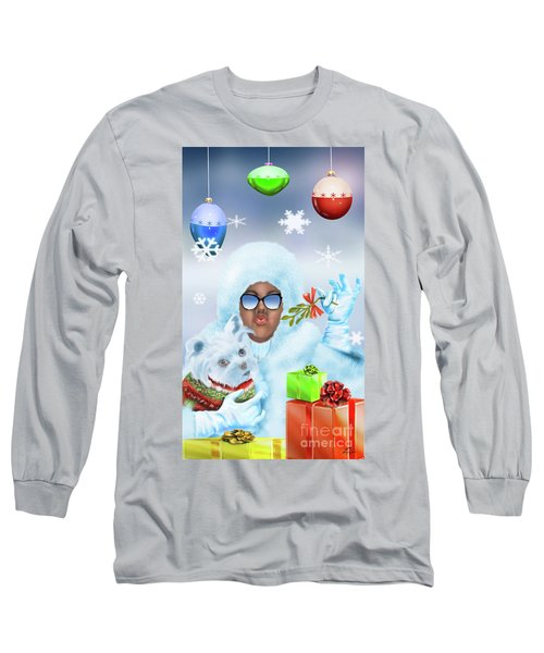 Merry Christmas And Kisses Long Sleeve T-Shirt