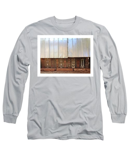 Metal And Ironwork With White Border Long Sleeve T-Shirt