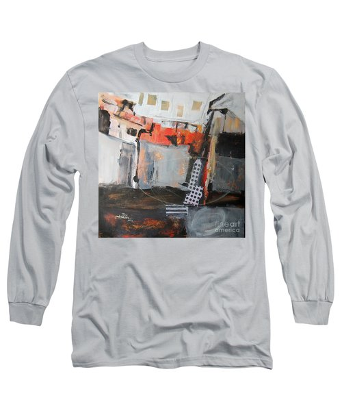 Long Sleeve T-Shirt featuring the painting Metro Abstract by Ron Stephens