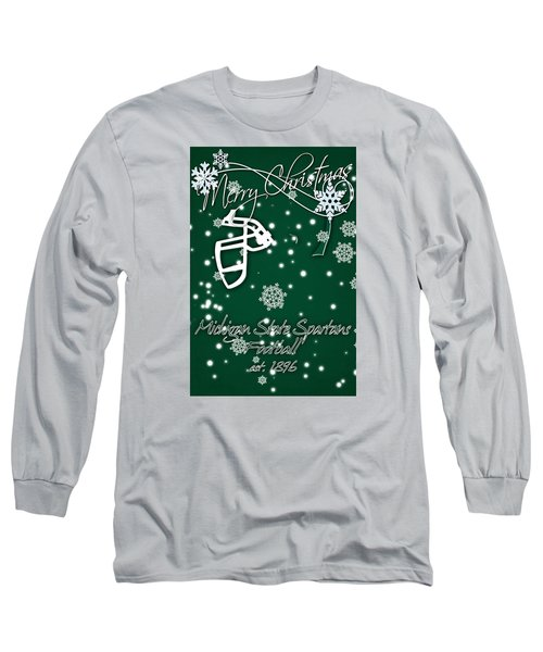 Michigan State Spartans Christmas Card Long Sleeve T-Shirt