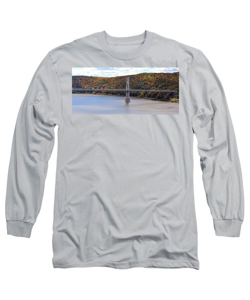 Mid Hudson Bridge In Autumn Long Sleeve T-Shirt
