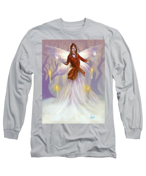 Midwinter Blessings Long Sleeve T-Shirt by Amyla Silverflame