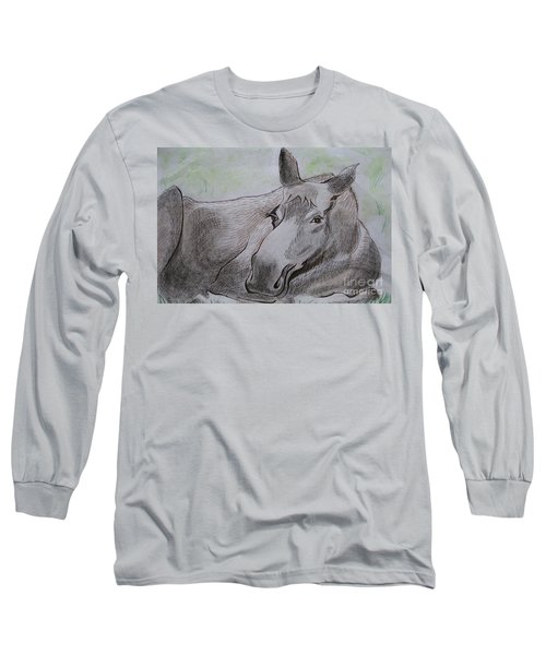 Mildred The Moose Resting Long Sleeve T-Shirt