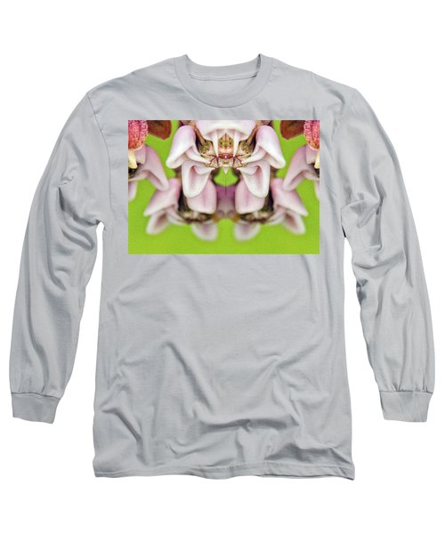Milkweed Mirror Image Pareidolia Long Sleeve T-Shirt