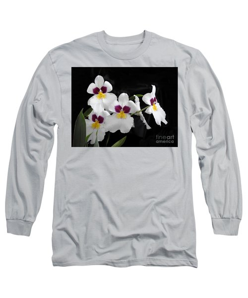 Miltonia Hybrid Orchid Long Sleeve T-Shirt by Scott Cameron