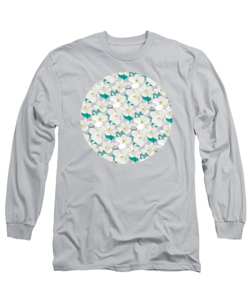 Mint Magnolias Long Sleeve T-Shirt